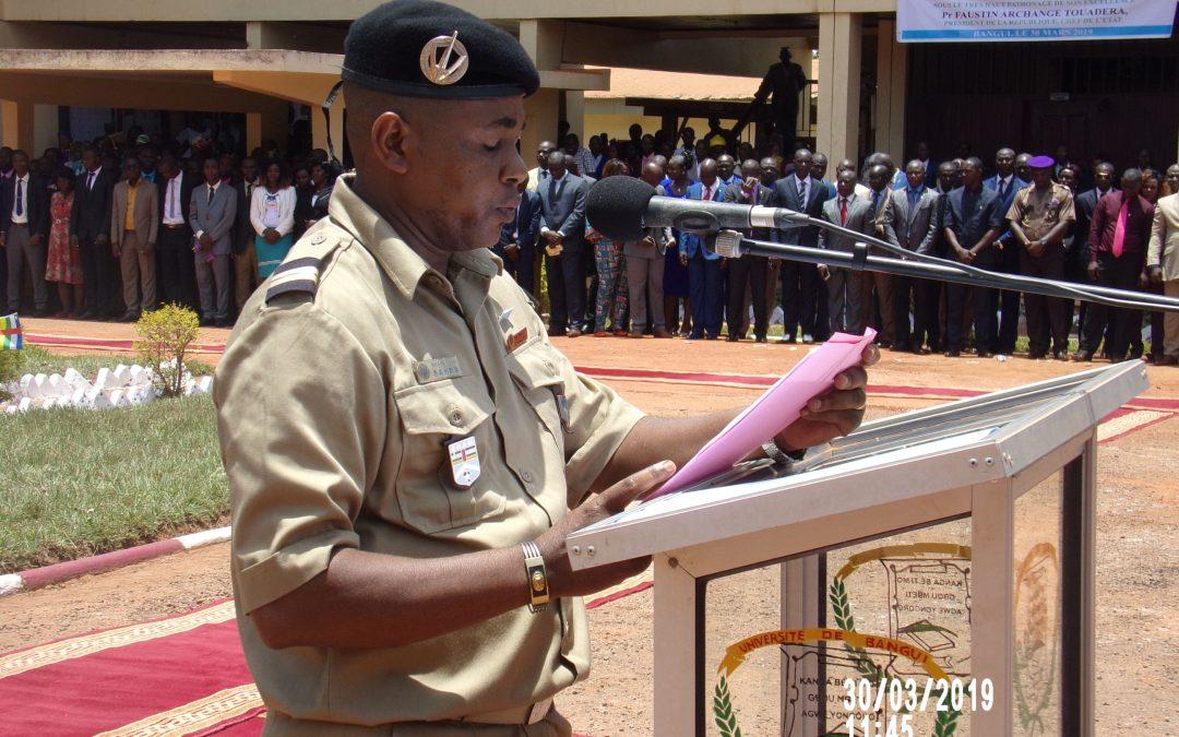 Cérémonie de remise de diplôme et de prestation de serment des ressortissants de l'ENAM