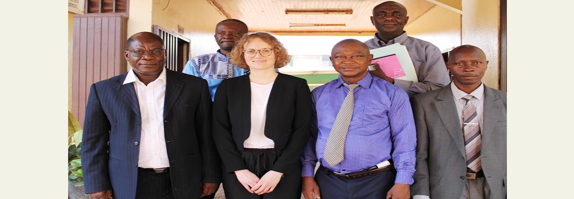 Marion SEGARD de l'ENA France en mission de travail à l'ENAM de Centrafrique